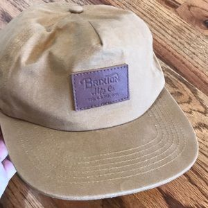BRIXTON Baseball Hat with Leather Logo Tag